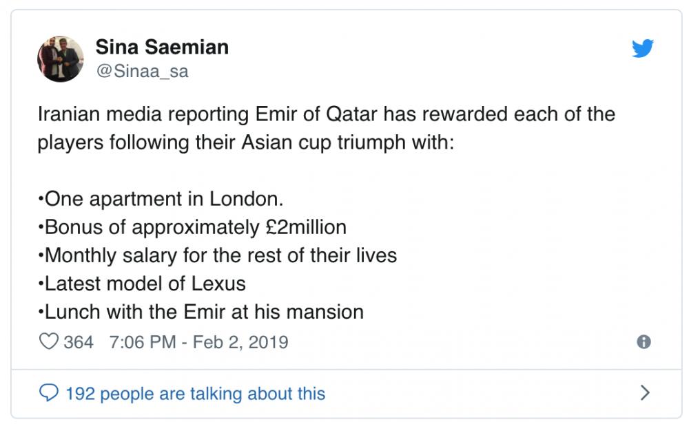 Cây viết Sina Saemian tiết lộ thông tin. Ảnh: Chụp màn hình.