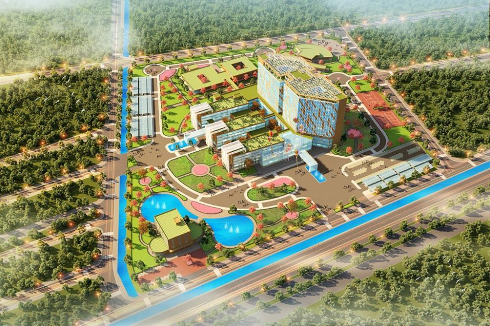 Mô hình bệnh viện sắp xây dựng của FLC ở Thái Bình. Ảnh: FLC.