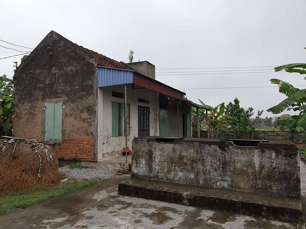 Ngôi nhà tại quê Thái Bình, nơi bé gái từng sinh sống với bà nội và các em trước đi theo cha vào Đà Nẵng.