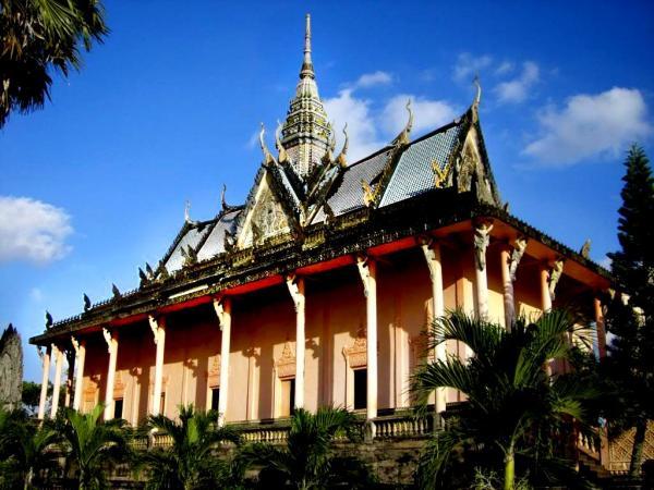 Tòa chánh điện cổ trầm mặc trong khuôn viên chùa Xiêm Cán. (Nguồn: Hải Yến)