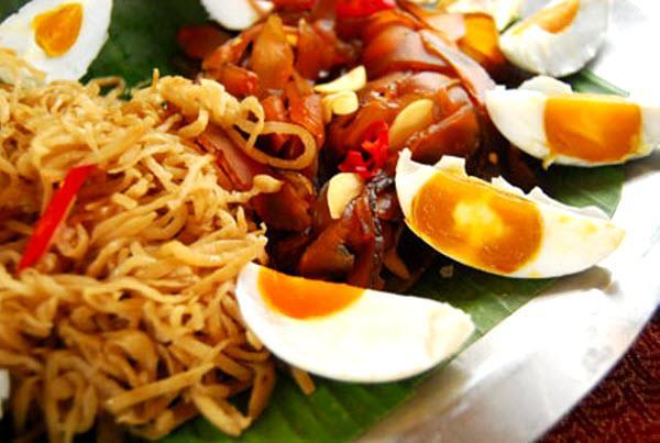 Xá bấu là một trong những món ăn ngon nổi tiếng của vùng. (Nguồn: thuonghieuvietnoitieng.vn)