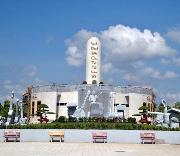 Khu lưu niệm nhạc sĩ Cao Văn Lầu. (Nguồn: huynh_tam_410)
