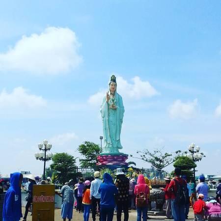 Phật Bà Nam Hải đang dần trở thành điểm đến thu hút nhiều du khách ở Bạc Liêu. (Nguồn: @nhunhu2608)