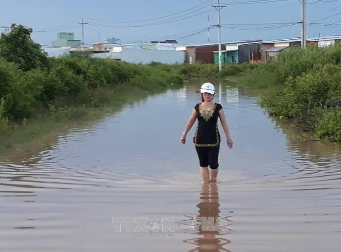 Một tuyến đường tại khu dân cư Thiên Long, phường 5 thành phố Bạc Liêu