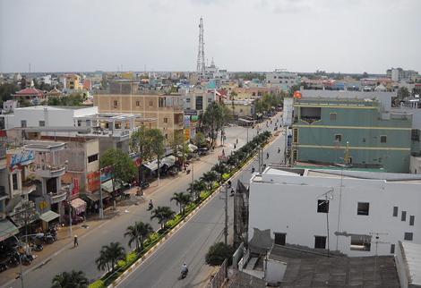 Một góc thành phố Bạc Liêu (tỉnh Bạc Liêu) ngày nay. Ảnh: Wikipedia
