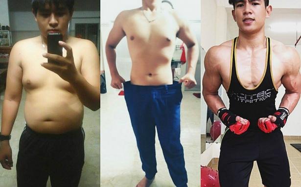 Trần Quốc Thái đã lột xác thành hot boy sau khi giảm cân thành công (Ảnh: NVCC)