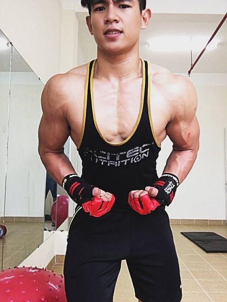 Để có được thân hình như hiện tại, anh chàng đã phải mất hơn 1 năm luyện tập (Ảnh: NVCC)