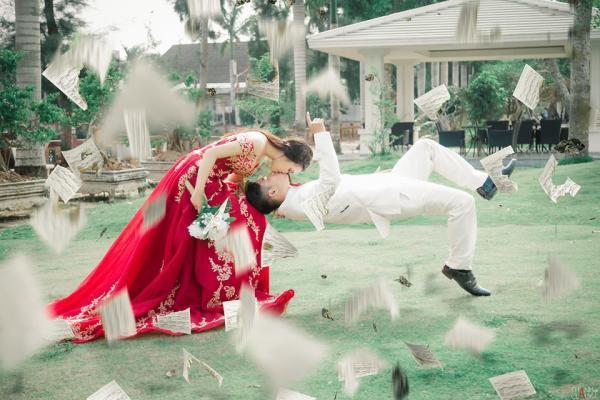 Cặp cô dâu chú rể Bạc Liêu. Nguồn: Thanh Clack