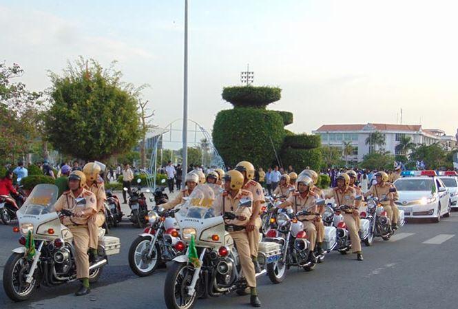 Lễ ra quân bảo đảm an toàn giao thông năm 2018 tại tỉnh Bạc Liêu.