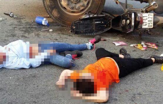 Vụ tai nạn khiến 3 người phụ nữ bị thương rất nặng. Ảnh: Văn Dũng
