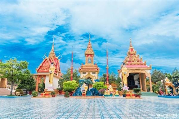 Hình ảnh ngôi chùa Xiêm Cán. (Nguồn: Phúc Thịnh)