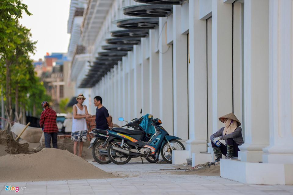Khu nhà trên mặt đường Trần Phú sắp hoàn thành.