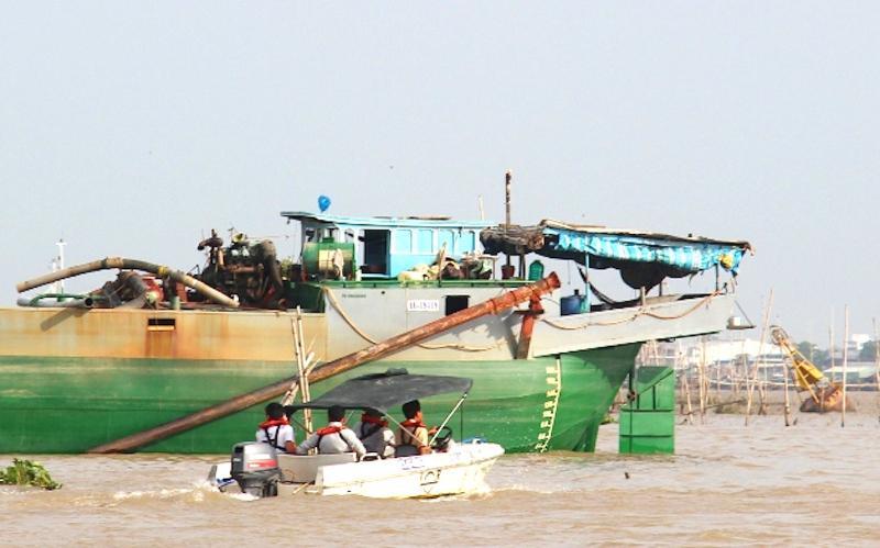 Hiện trường vụ tai nạn trên sông Hậu (Ảnh CTV)