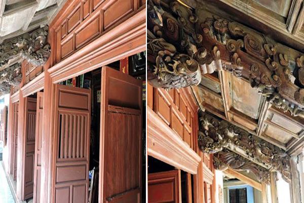 Ngôi nhà cổ rộng gần 300m2, lưu giữ được nhiều nét cổ kính. Kiến trúc, kết cấu của ngôi nhà vẫn vẹn nguyên như xưa.