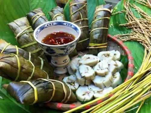 Bánh tẻ làng Chờ đậm đà hương vị xứ Kinh Bắc. Ảnh: Đông Sim Bắc Ninh