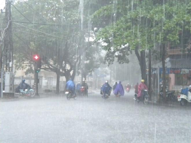 Khu vực Hà Nội có mưa lớn. Ảnh: Internet