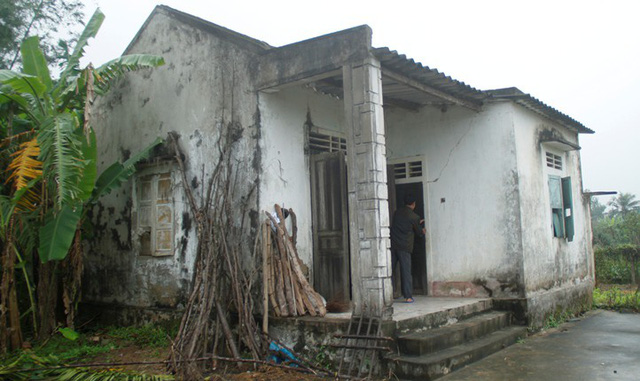 Ngôi nhà hoang nơi ông N. trú ngụ.