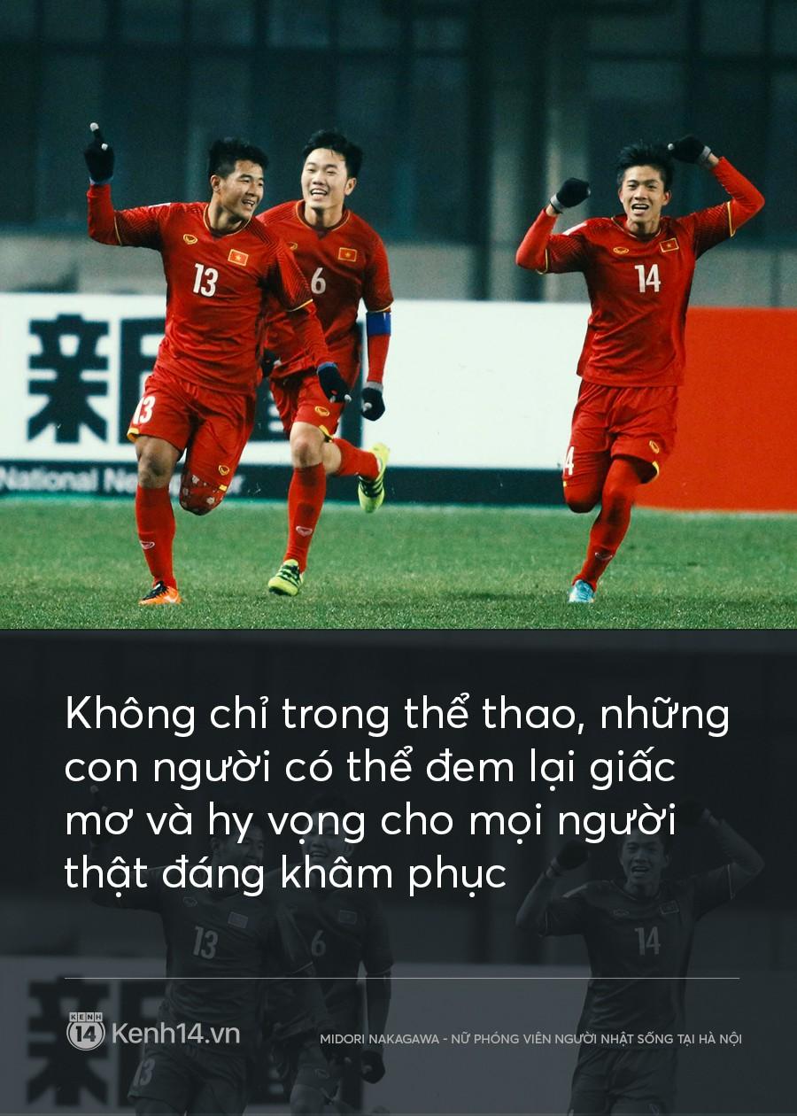 Trước hết, xin chúc mừng U23 tiến vào chung kết, Việt Nam! Trông đợi chiến thắng ngày 27