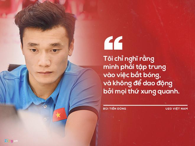 Thủ môn Bùi Tiến Dũng chia sẻ như vậy với Zing.vn trong buổi giao lưu trực tuyến hôm 29/1.