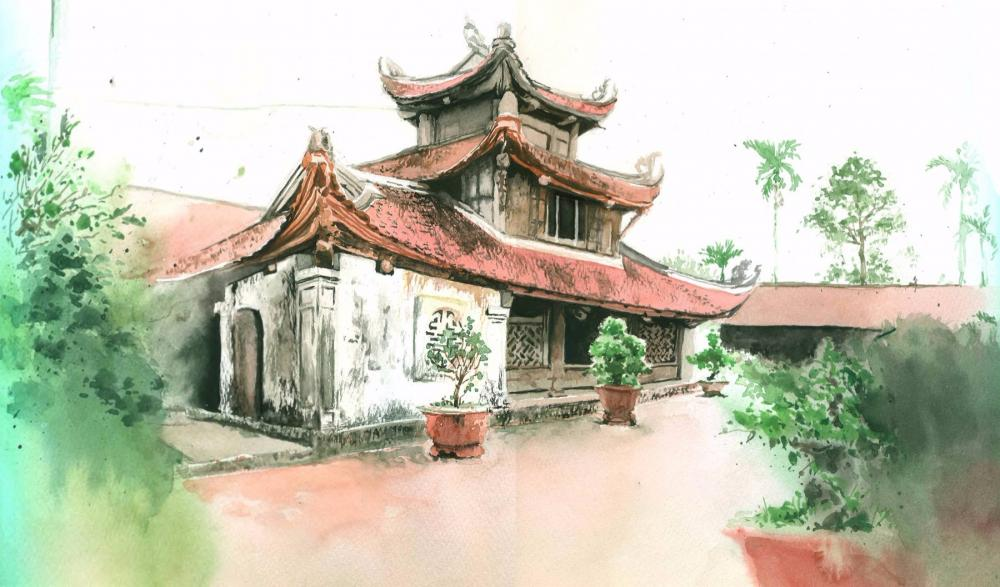 Một góc ở chùa Bút Tháp. (Ảnh: hoabinhtourist.com)