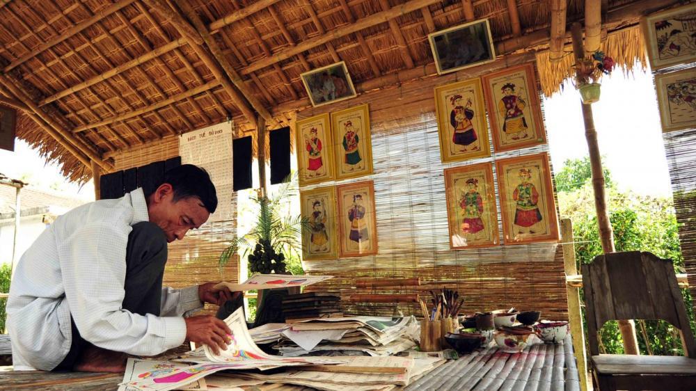 Làng Hồ hay Đông Hồ là một làng nghề cổ truyền nằm ở huyện Thuận Thành. (Ảnh: duli.vn)