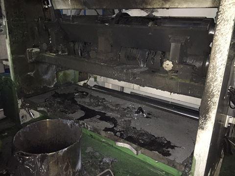 Khu vực xảy cháy khiến 1 công nhân bị bỏng