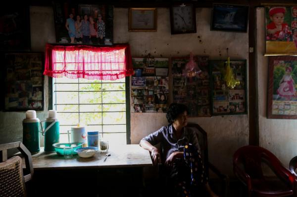 Chủ nhân hiện tại của ngôi nhà là bà Bà Trần Thị Ngỏ (70 tuổi, cháu dâu đời thứ ba của ông Trần Văn Hoa).