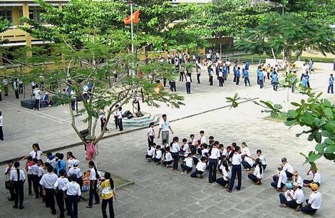 Một trường học ở thị trấn Châu Thành (huyện Châu Thành, Sóc Trăng). Ảnh: Phòng Giáo dục huyện Châu Thành