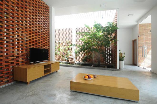 Khối nhà ở thiết kế mộc mạc, hiện đại.