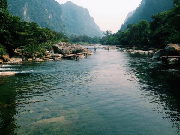 Suối Nước Moọc rất thích hợp cho những trải nghiệm mới lạ. (Nguồn: Bùi Quốc Thắng)