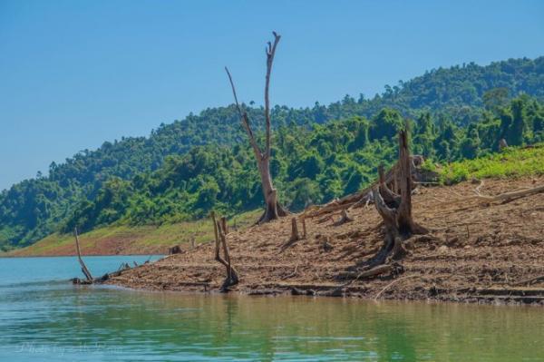 Cảnh sắc thiên nhiên ban sơ, đẹp mơ màng ở lòng hồ thủy điện Bình Điền. (Nguồn: Thuy Hong Le)