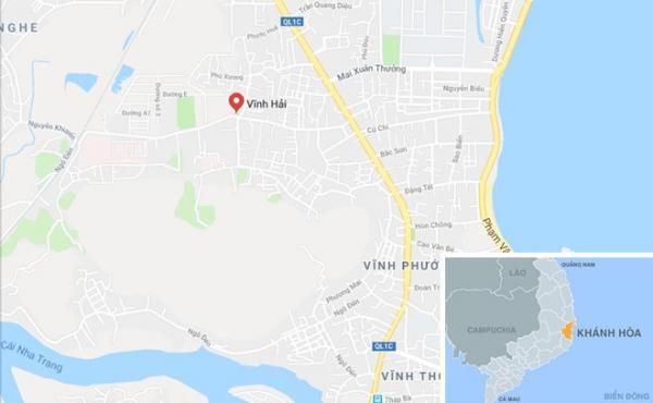 Phường Vĩnh Hải, nơi xả ra vụ án. Ảnh: Google Maps.