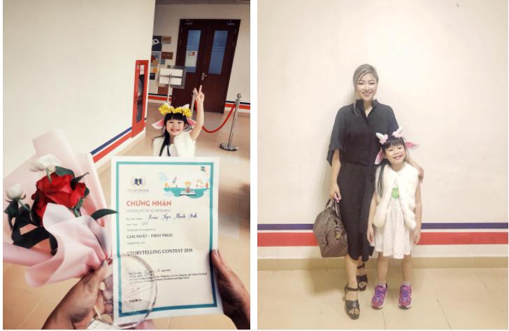 Miu được giải Nhất cuộc thi kể chuyện ở trường đấy!