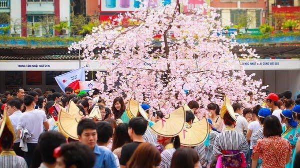 Lễ hội văn hoá Việt - Nhật tại TP Đà Nẵng diễn ra chân cầu Rồng.