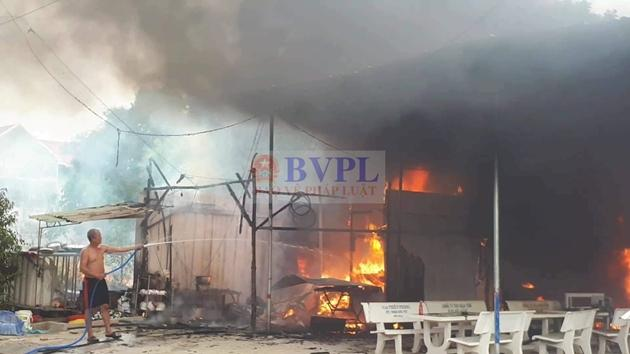 Hiện trường nơi xảy ra vụ cháy
