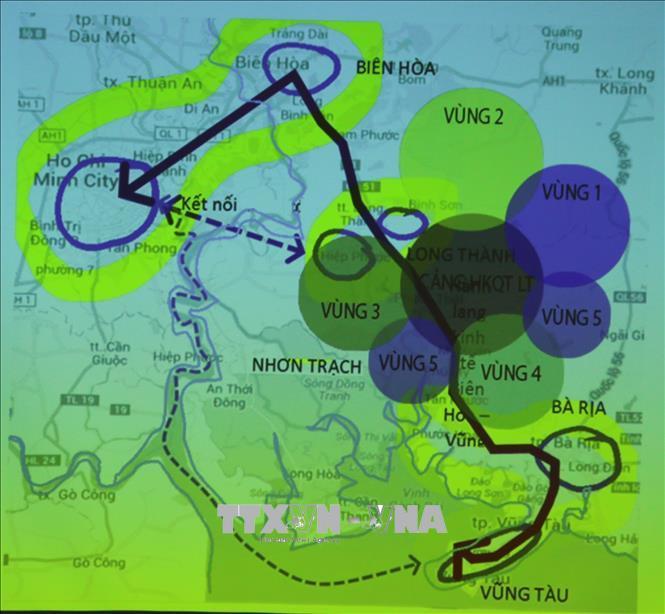 Phương án quy hoạch vùng phụ cận sân bay Long Thành.