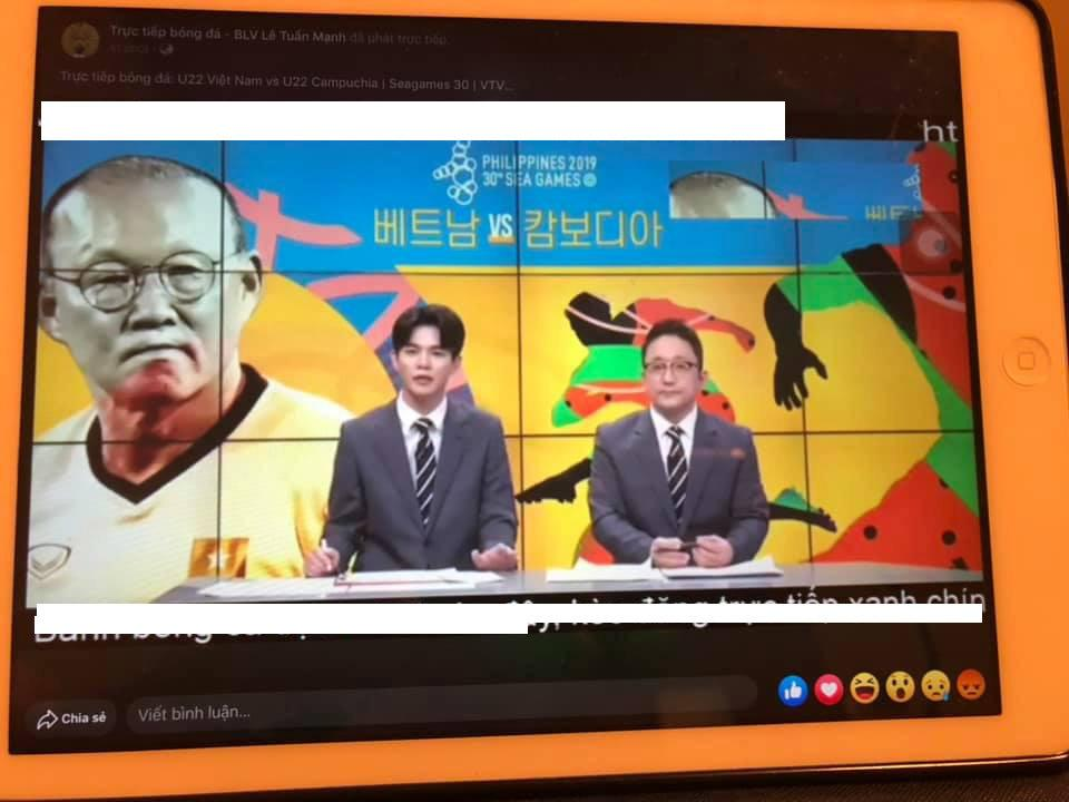 Các đài tại Hàn Quốc, cho phát sóng trực tiếp những trận đấu có mặt Việt Nam tại SEA Games 30. (Ảnh: Minh Anh/ Duong Nguyen)