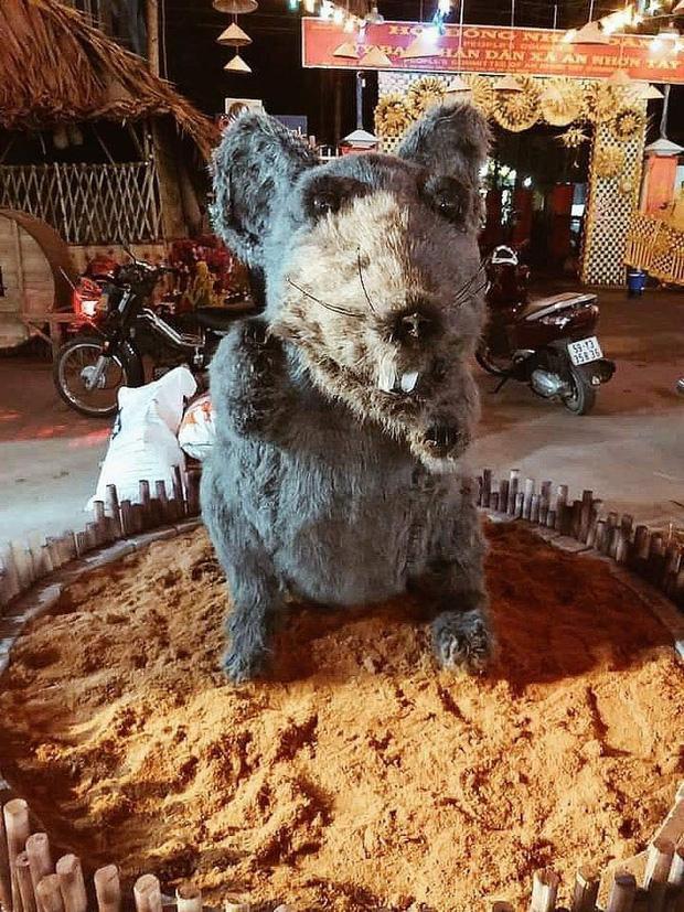 Linh vật chuột ở Củ Chi khiến nhiều người xôn xao
