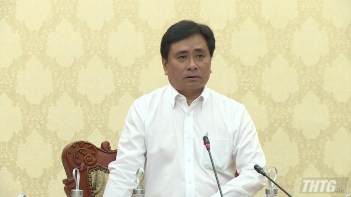 Ông Trần Văn Dũng – Phó Chủ tịch UBND tỉnh phát biểu chỉ đạo tại cuộc họp. Ảnh: Anh Tuấn