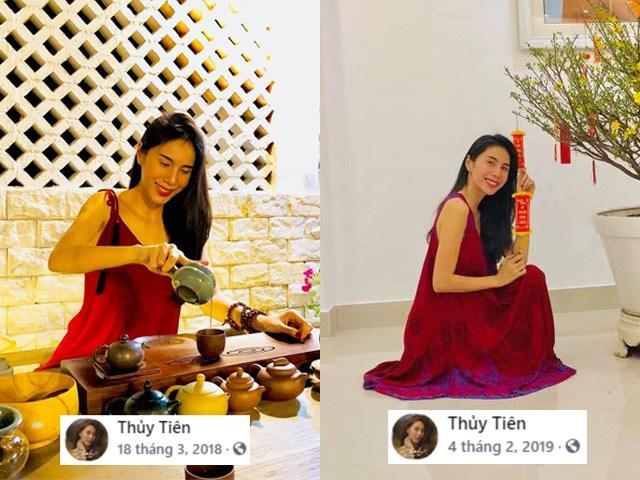 Ở nhà Thủy Tiên cũng hay diện một là đồ bộ, hai là các thiết kế váy lụa có form dáng xòe rộng, thoải mái, phù hợp với khí hậu của miền Nam nắng nóng.