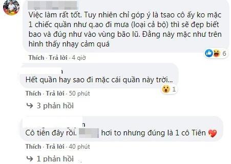 Những bình luận đùa cợt về ca sĩ Thủy Tiên. Ảnh chụp màn hình.
