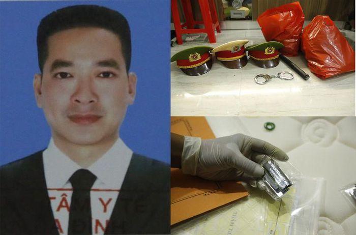 Dương Hoàng Việt Anh cùng tang vật thu giữ tại nơi ở. Ảnh: CACC
