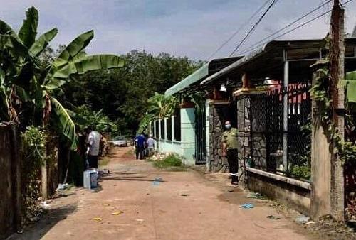 Căn nhà phát hiện 2 th.i th.ể tại huyện Bàu Bảng, Bình Dương. Ảnh: Tổ Quốc