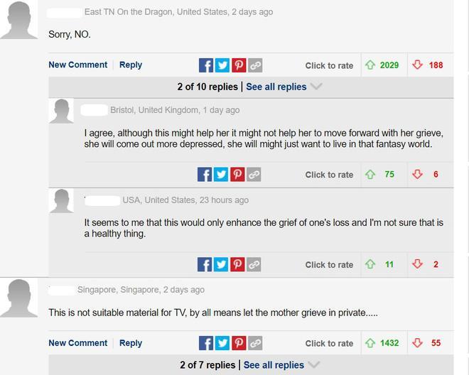 Trên dailymail UK, những bình luận được đánh giá cao nhất cũng không hề ủng hộ cách làm của chương trình.
