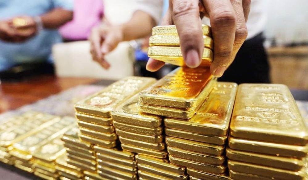 Thị trường vàng trong nước ở phiên giao dịch sáng 29/4 đã bắt đầu giảm. (Ảnh: Báo Đấu Thầu)