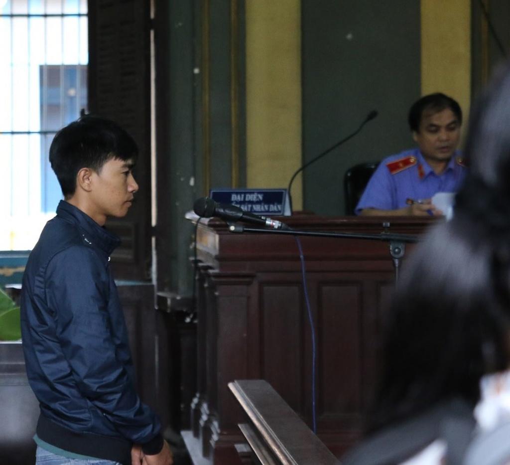 Bị cáo Khoa tại tòa. Ảnh: Ngọc Hoa