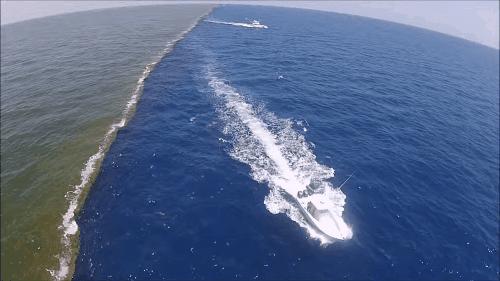 2 đại dương không hòa vào nhau tạo nên khung cảnh tuyệt đẹp.