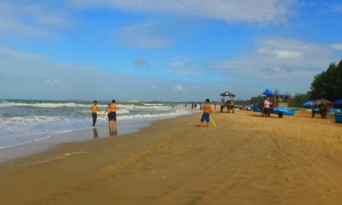 Bãi biển Cam Bình - nơi xảy ra vụ việc