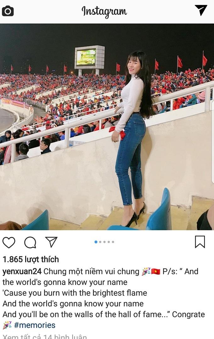 Yến Xuân - cô gái được cho là bạn gái của thủ môn Lâm Tây.