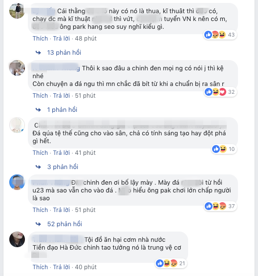 Fcebook Đức Chinh hiện đang bị tấn công dữ dội.